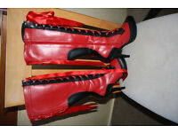 Bordello boots Red and black