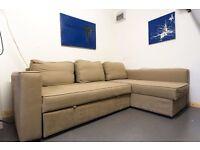 Ikea Vilasund Beige Sofa bed