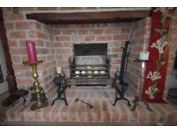 Fantastic antique steel fireplace.