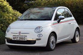 *Beautiful*2009 Fiat 500 1.4 Lounge, FSH, Full Leather Interior, Panoramic Roof