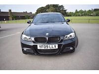 BMW 318D M SPORTS 2009 FSH HPI CLEAR - 335D TWIN EXHAUST TOUCH SCREEN UPGRADED AUDIO