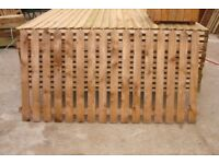 BROWN DIPPED PICKET FENCE PANELS 3 X 5ft 9in £15 EACH