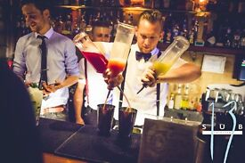 Cocktail bartenders, bar backs and glass collectors needed for Sub 13 expansion