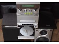 PANASONIC CD/RADIO/CASSETTE/AUX IN/REMOTE/PLAY IPOD PHONE 88W