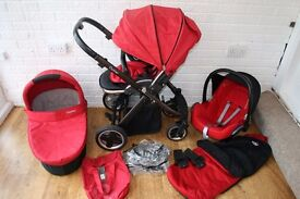 Babystyle Oyster pram travel system 3 in 1 - red ***can post***