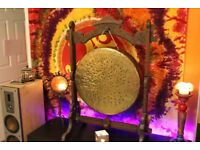Large Tibetan Yoga Temple Therapy Chakra Meditation Handmade Gong from Nepal 7,5kg diameter 49cm