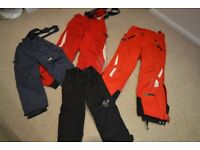 Boys/girls ski trousers for age 4 to 10