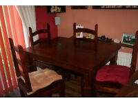Dining Table with 4 chairs & Coffee Table