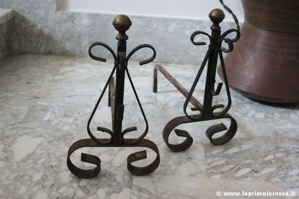 Alari depoca in ferro per camino accessori vintage x focolare