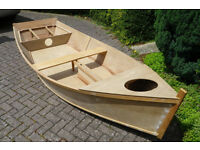 Part built dinghy, would make fantastic PIRATE SHIP for the garden