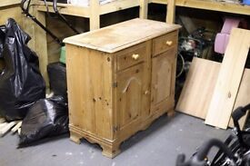 Wooden cupboard with drawers