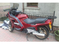 Honda ST1100 Pan European Touring Motorcycle, red colour, low mileage - under 21000 miles
