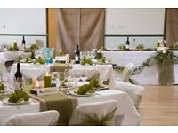 Wedding Seat Covers and Olive Organza Sashes