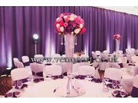 Luxury Wedding Event Decorations, Luxury wedding stage, wedding centrepiece hire, Corporate events