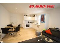 Stunning 2 double bed flat, warehouse conversion on the canal, furnished, terrace, walk to station