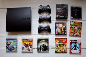 £80 ONO BARGAIN!! PS3 - PlayStation 3 Slim 320GB - 3 Controllers - 11 Games - Serial: CECH-3003B