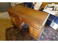 Hardwood Double Pedestal Desk Ideal For Home Office
