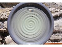"Large Handmade Glazed Terracotta Platter 13"" Plant Stand Art Pottery Studio Pottery Irish Ireland"