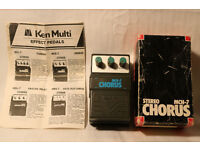 MCH-7 Sterio Chorus Pedal Ken Multi in Box with leaflet Rare
