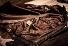 Lakelend Brown Leather Jacket - Like New