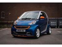 Modified Smart Fortwo Passion 2009. Blue/silver. With brabus paddle shift.