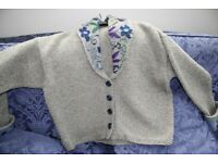 Ladies hand knitted wool jacket in Rowan Yarns