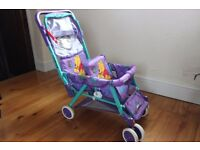 Childs toy twin push chair