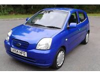 Automatic (54 Reg) Kia Picanto 1.1LXi 5 Door, New MOT, Low Mileage, Reliable