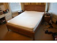 Ikea Kingsize Bed + Sultan Hasselback Mattress + Sultan Tjome topper