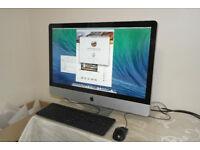 "Apple iMac 27"" Core i7 @ 3.40GHz. Radeon 2GB graphics. 8GB DDR3 RAM. 1TB hard drive."