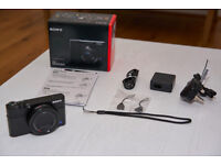 Sony RX100 III camera - As new, warranty, shutter count 0 - view in Mayfair or Bromley
