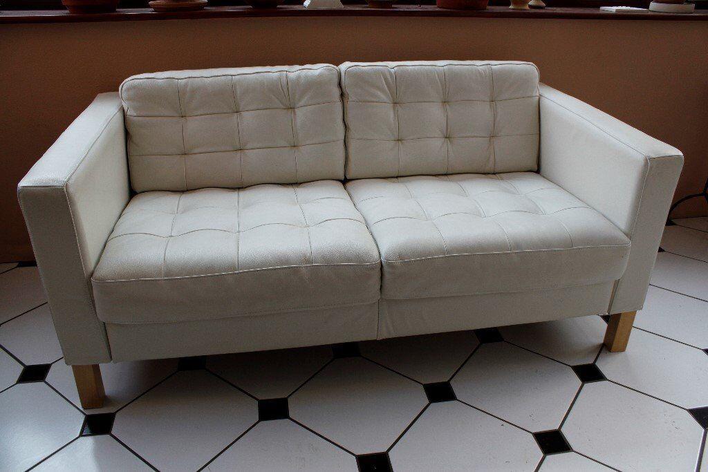 2 Seat Leather Sofa Ikea Karlsfors