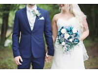 Blue Bridal bouquet and 4 x bridesmaids bouquets!
