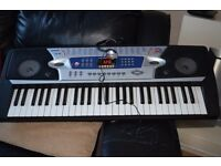 25-98 RECORD AND PLAY DIGITAL KEYBOARD/POWER ADAPTER/JVC HEAD PHONE