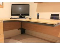Office furniture - light oak in excellent condition