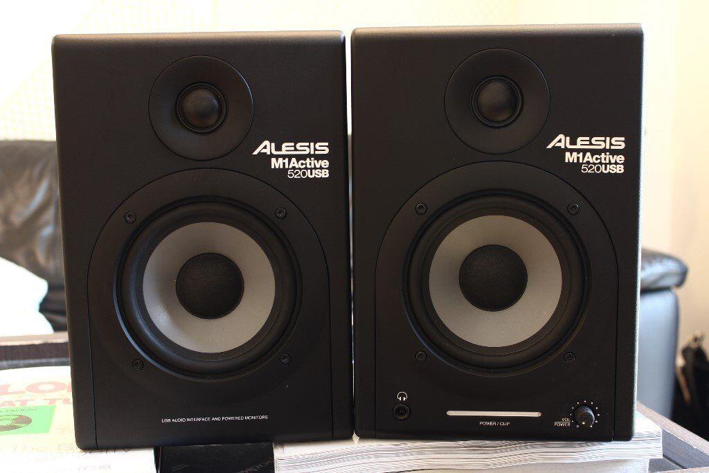 Alesis M1Active 520 USB (pair)-Nearfield Studio Monitors with USB Audio I/O -Cambridge