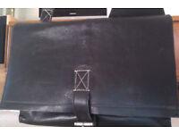 Hidesign - black leather satchel / bag / laptop bag / messenger bag