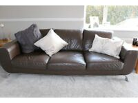Settee - Natuzzi 2 Seater and 3 Seater Leather Sofa