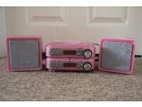 Girls pink CD player