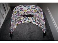 Mamas and Papas Sola Plum Petals pushchair HOOD fits Urbo, Zoom, Glide --can post---