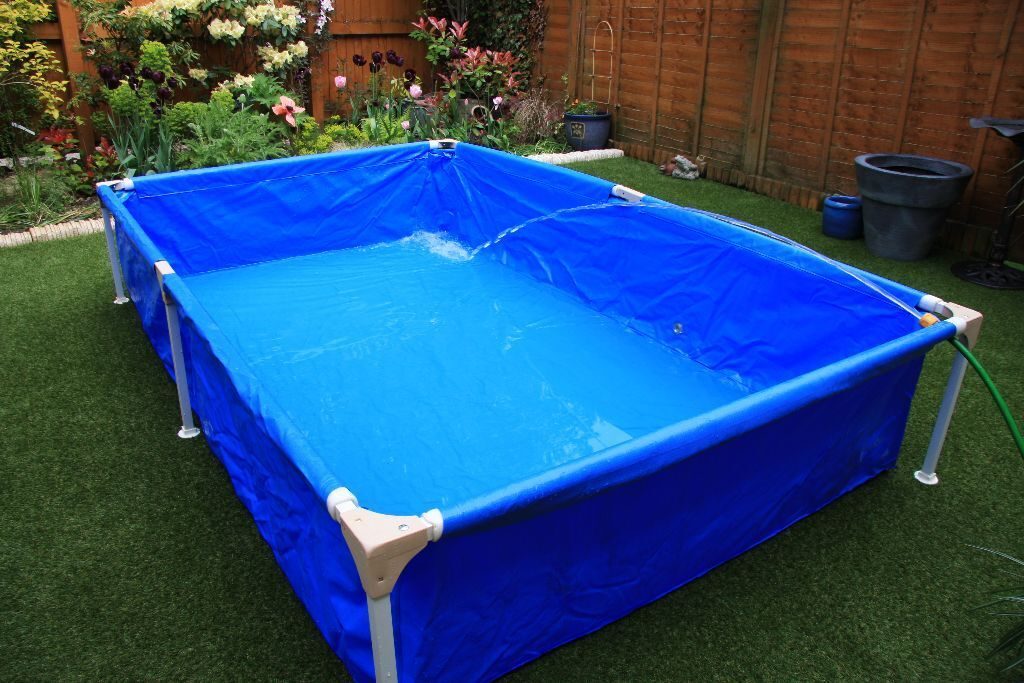 Rectangular frame paddling pool approx x in for Small paddling pool
