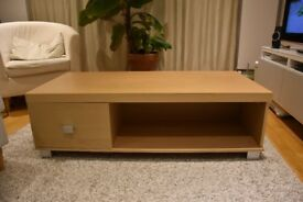 TV Bench / Unit with 1 Drawer (oak effect)