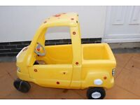 Little Tikes yellow cosy coupe car with back seat/boot! Great for 2 kids!