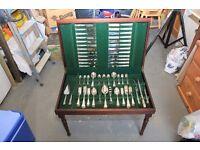 139 Piece Sheffield Silver Plated Cutlery Set