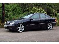 *Beautiful Low Mileage*Mercedes C Class C220 CDi Avantgarde SE, FSH, Half leather, Auto-Tiptronic