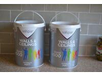 Two large tins of Valspar paint for sale