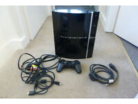 "Sony PS3 ""Fat"" 80GB Console with controller and games"