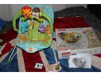 FISHER PRICE PRECIOUS PLANET BLUE SKY PLAYTIME BOUNCER INFANT SEAT