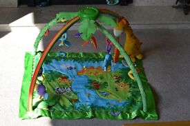 Fisher-Price Rainforest Melodies & Lights Deluxe Baby Play Gym (RRP £60)