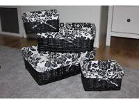 Set of 4 Wicker Storage Baskets